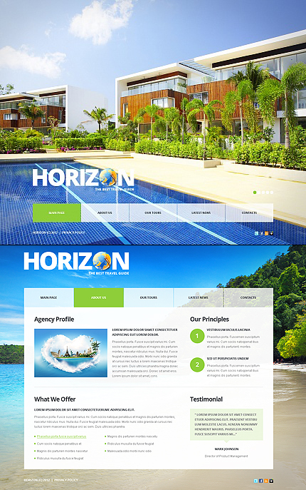 ADOBE Photoshop Template 41234 Home Page Screenshot