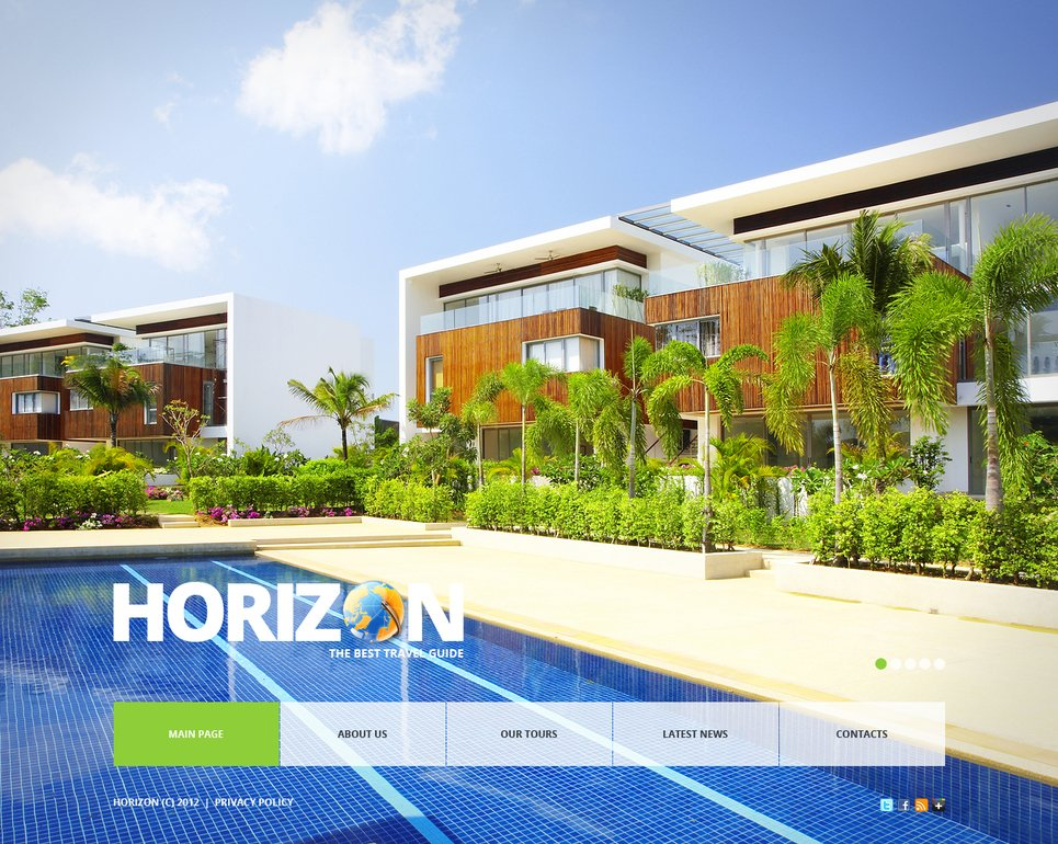 Travel Website Template with a Large Background Image Slider - image