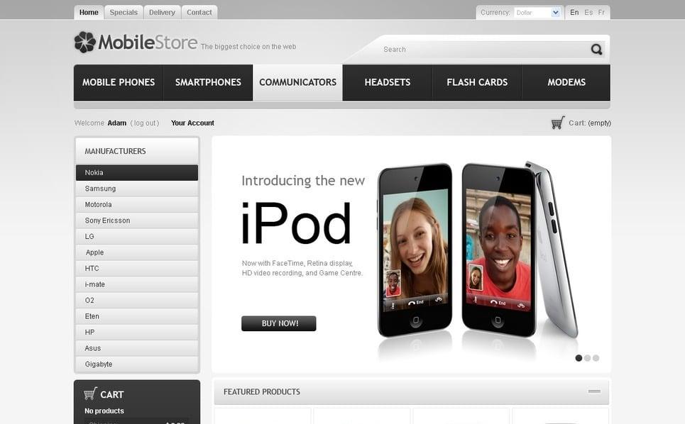 Szablon PrestaShop Sklep telefonów komórkowych #41240 New Screenshots BIG