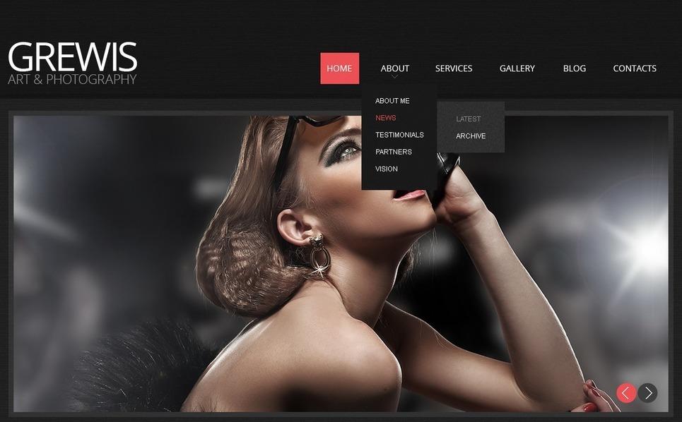 Reszponzív Fényképész portfóliók Weboldal sablon New Screenshots BIG