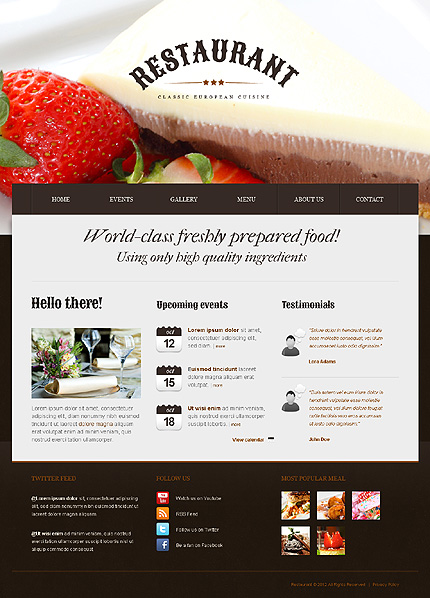 Drupal Template 41242 Main Page Screenshot
