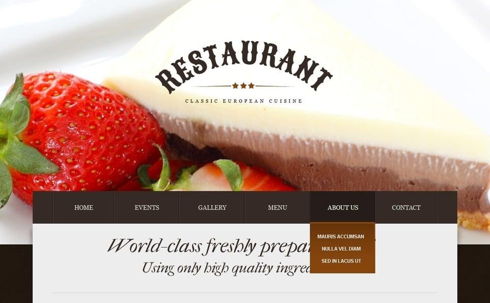 Thème Drupal  pour site de café et restaurant New Screenshots BIG