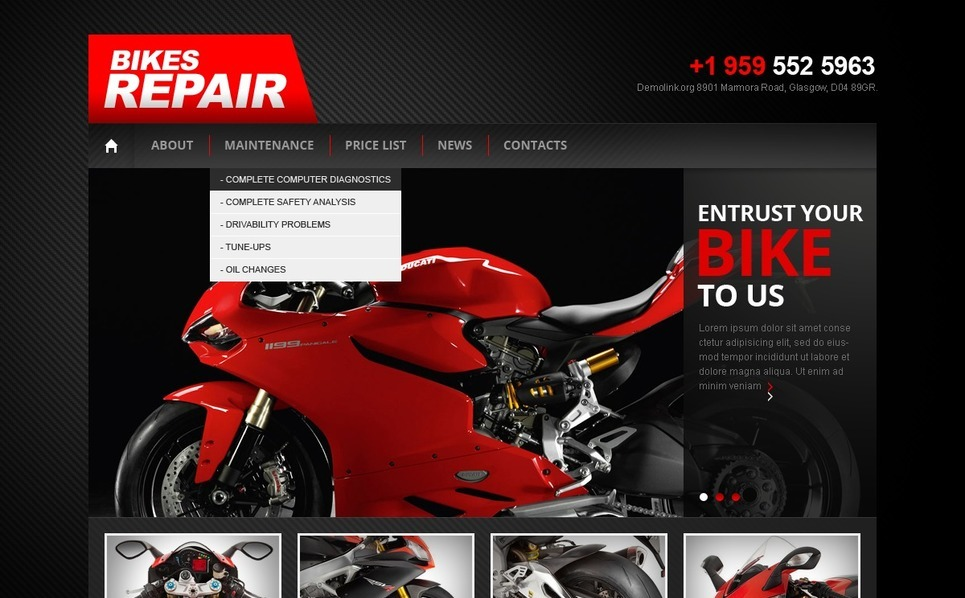 Szablon Drupal #41244 na temat: sklep rowerowy New Screenshots BIG