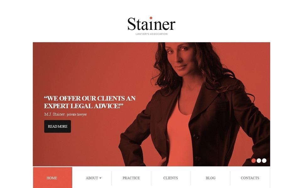Website template over Advocatenkantoor  New Screenshots BIG