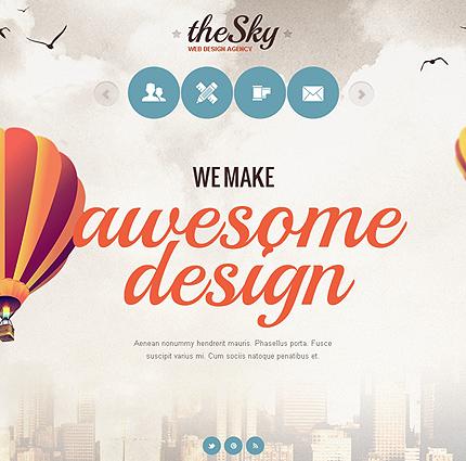 ADOBE Photoshop Template 41269 Home Page Screenshot