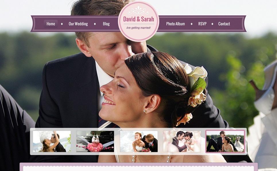 Modello Siti Web  #41282 per Un Sito di Matrimonio New Screenshots BIG