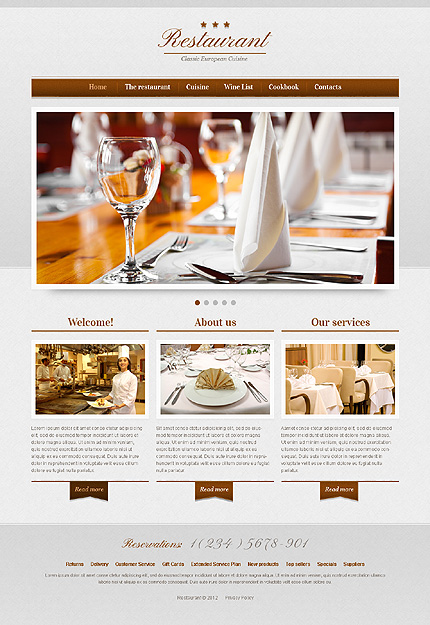 cafe and restaurant website template website templates