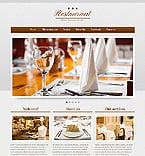 Cafe & Restaurant Website  Template 41288