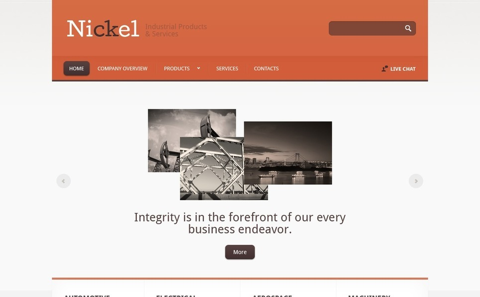 Modello siti web per un sito di industria for Siti web di home plan