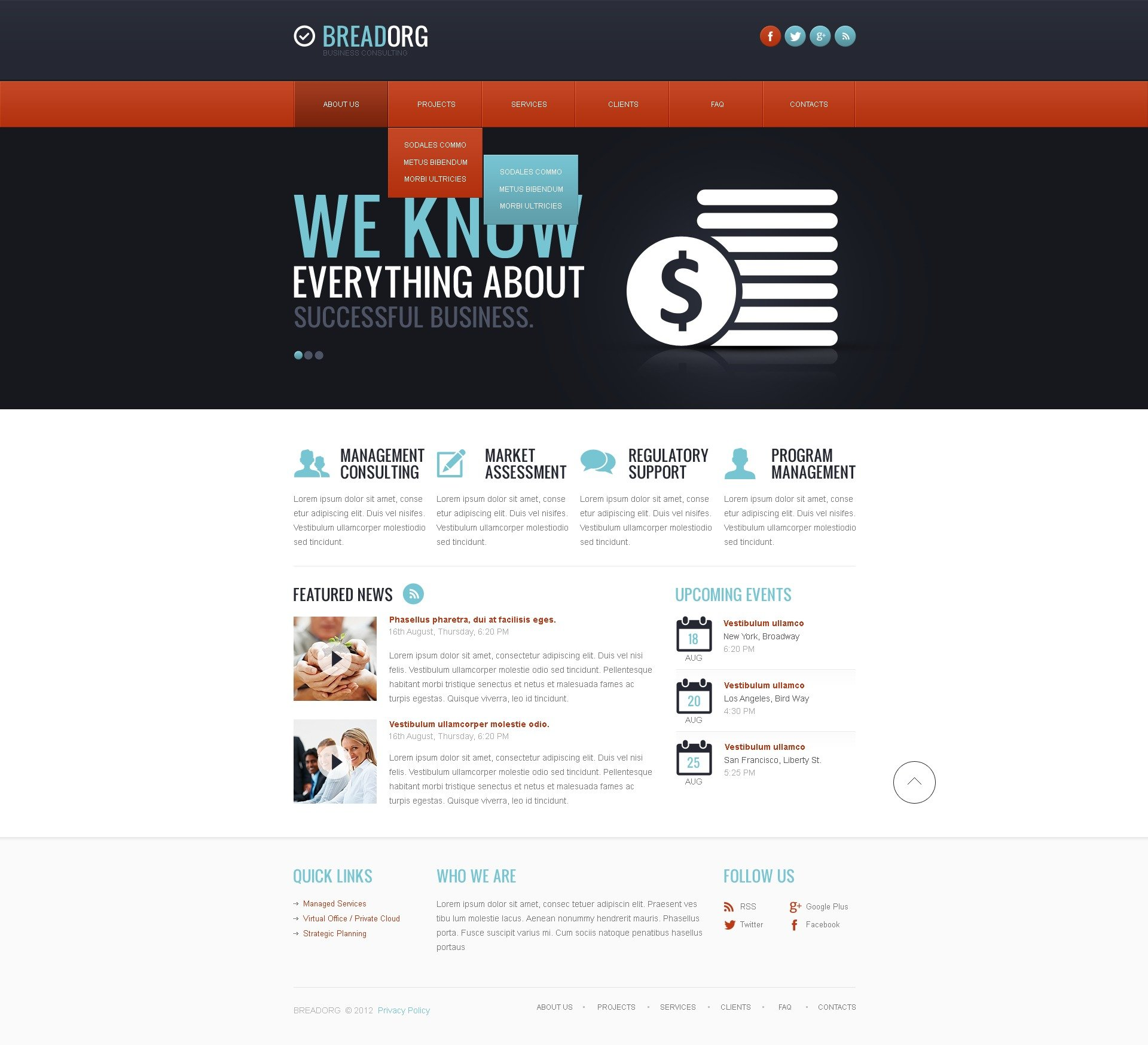 Consulting website template 41267 for Consulting website