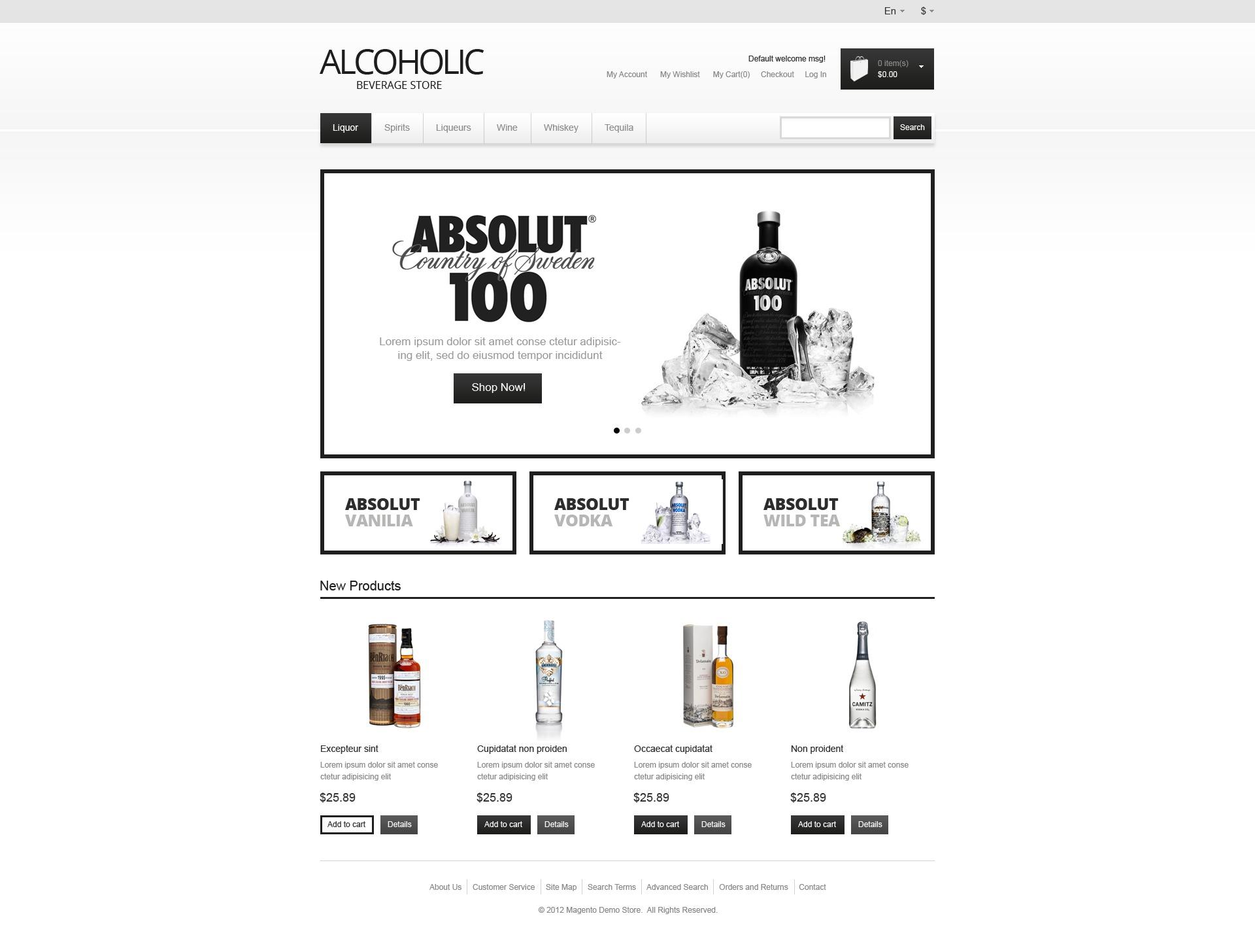 elite alcohol magento theme 41218