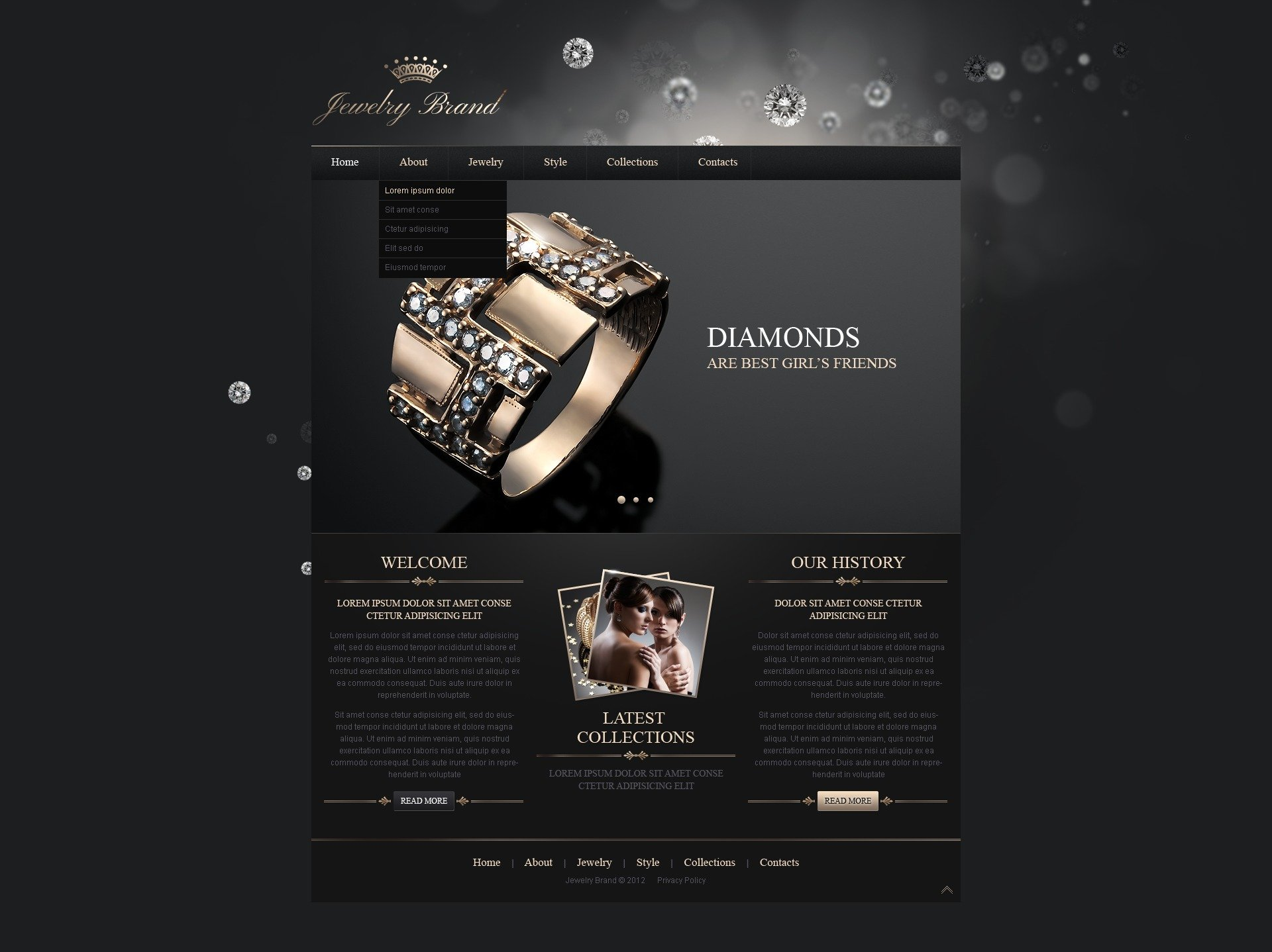 jewelry responsive website template 41287