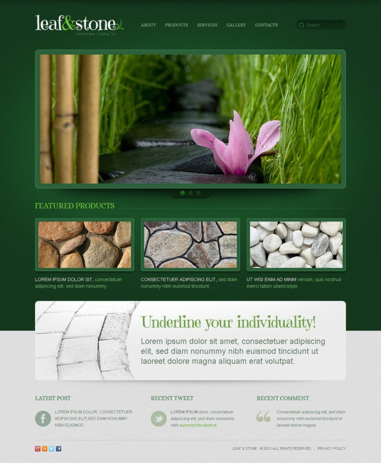 Landscape Design Moto CMS HTML Template New Screenshots BIG