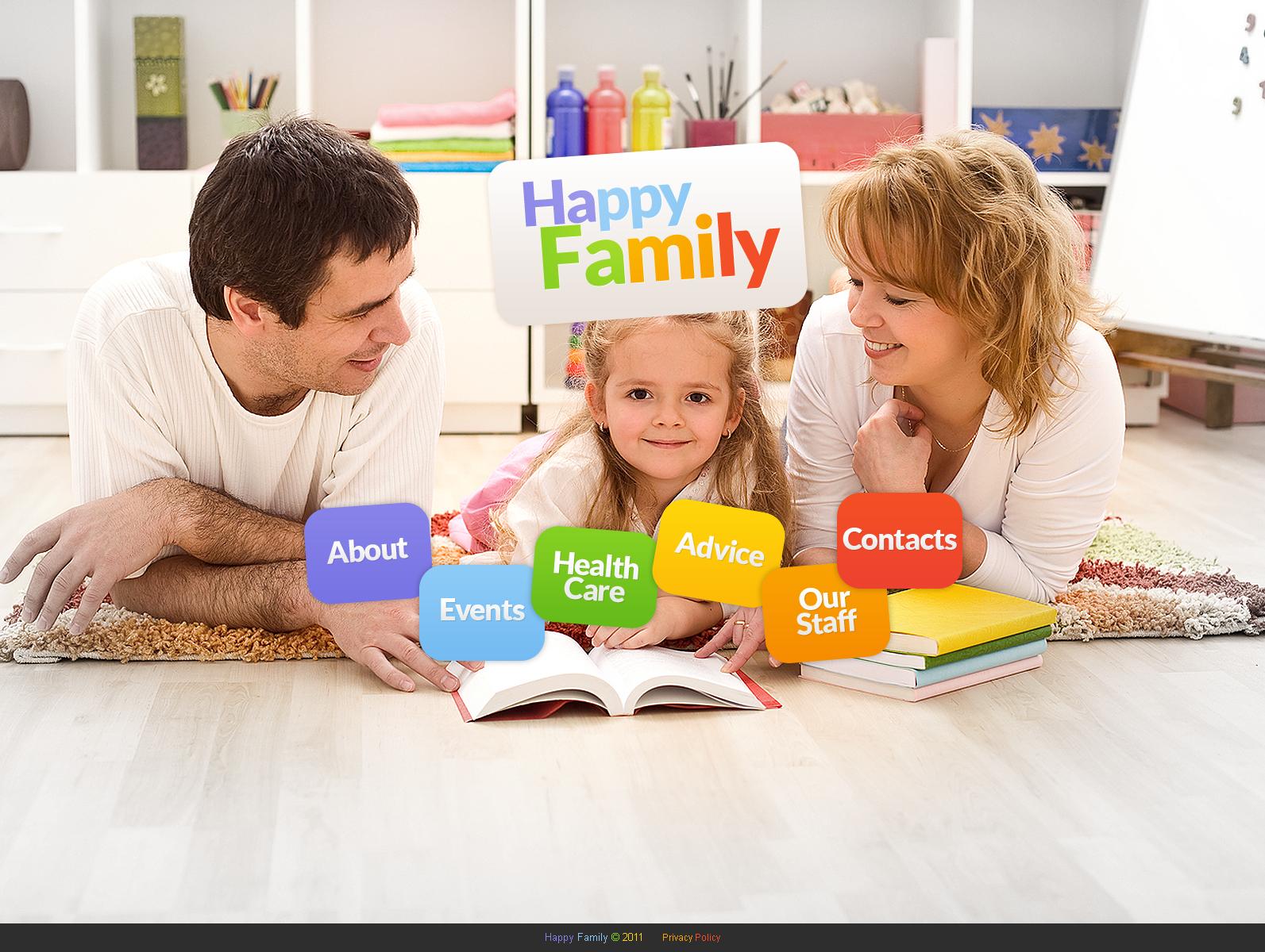 Modèle Moto CMS HTML Premium pour site de Centre familial #41227