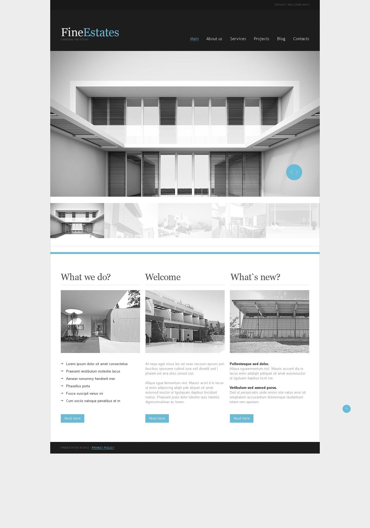 Real Estate Agency Website Template - screenshot
