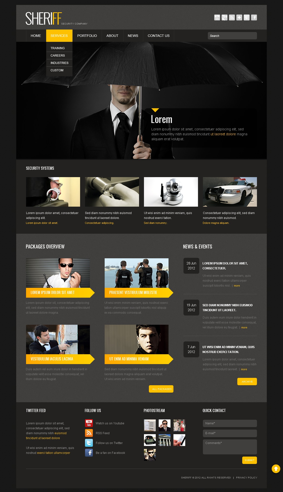 Security WordPress Theme #41205