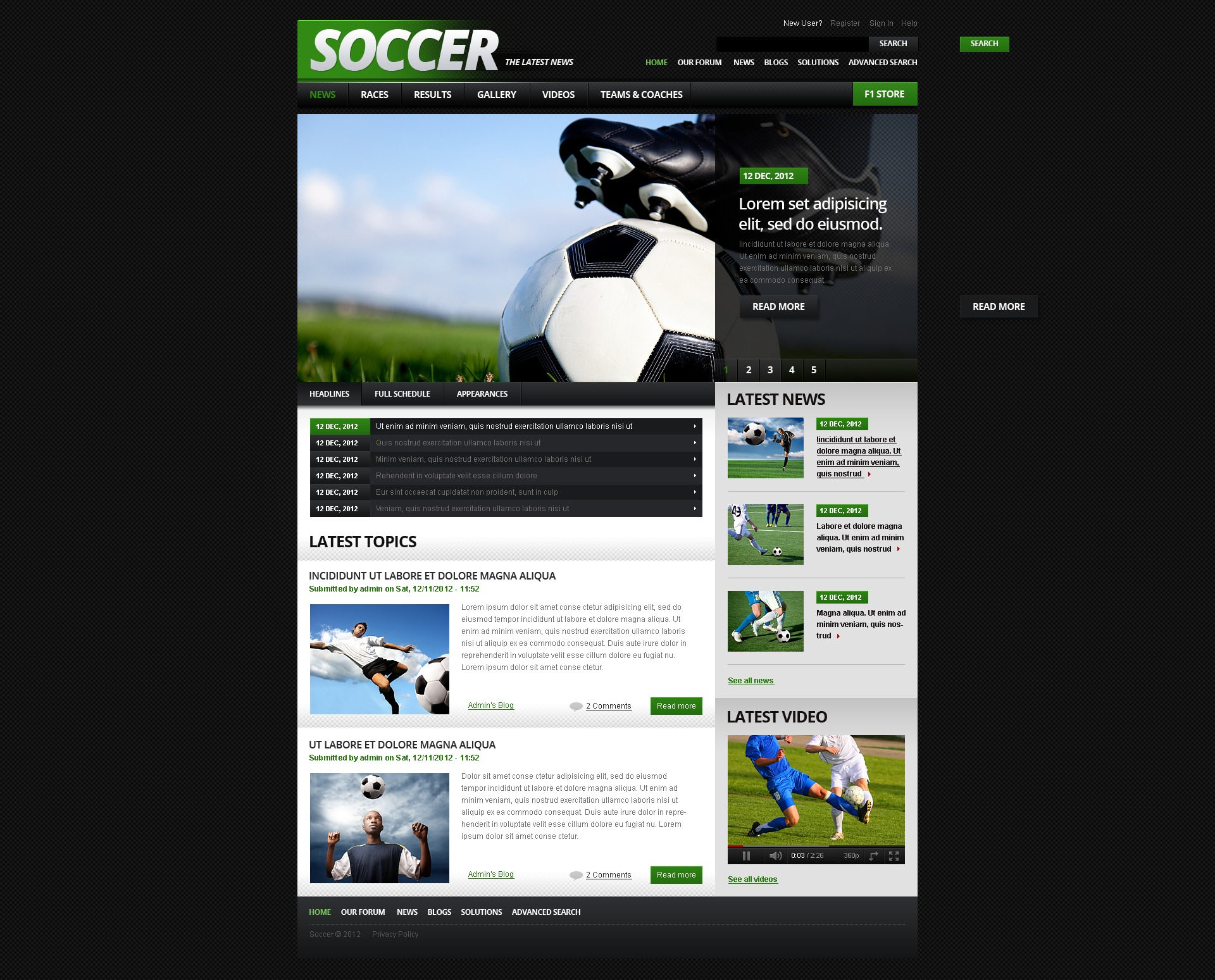 Soccer drupal template 41245 for Drupal custom view template