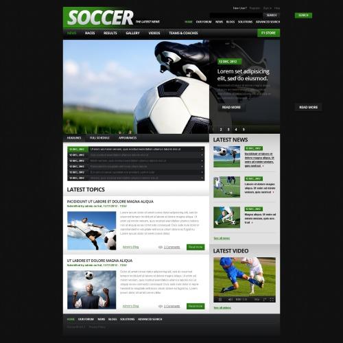 Soccer - Drupal Template