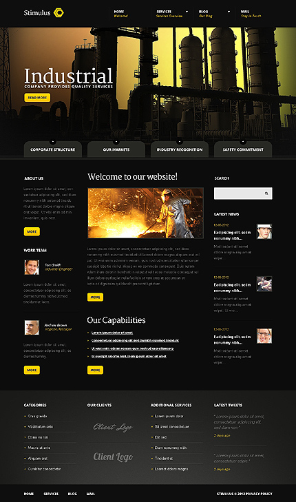 Joomla Theme/Template 41309 Main Page Screenshot