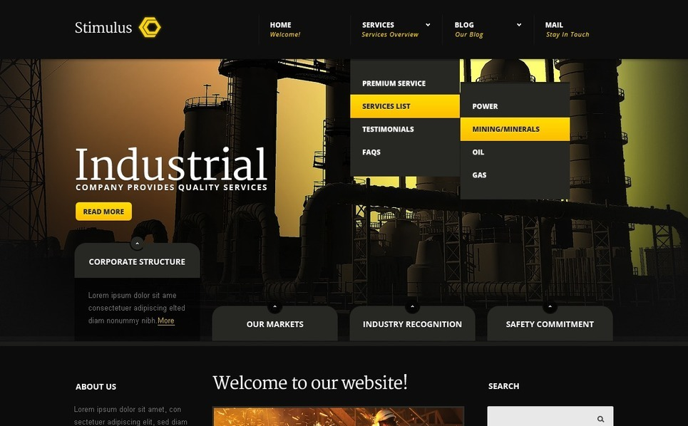 Modello Joomla  #41309 per Un Sito di Industria New Screenshots BIG