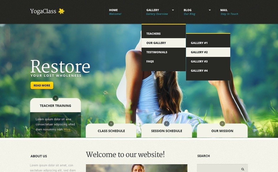 Joomla Template over Yoga New Screenshots BIG
