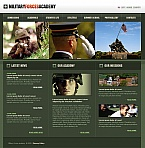 Military Moto CMS HTML  Template 41316