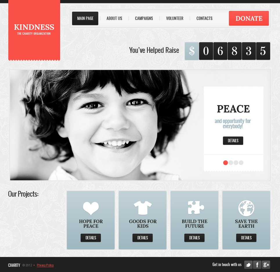 Charity Organization Template with CMS - image