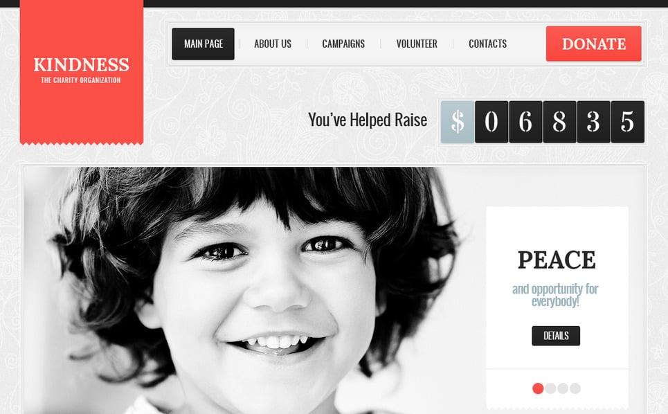 Szablon Moto CMS HTML #41317 na temat: dobroczynność New Screenshots BIG