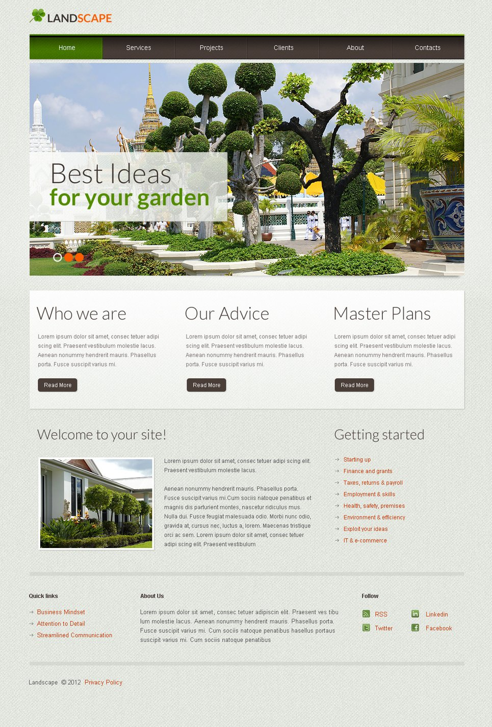Landscape Design Website Template - image