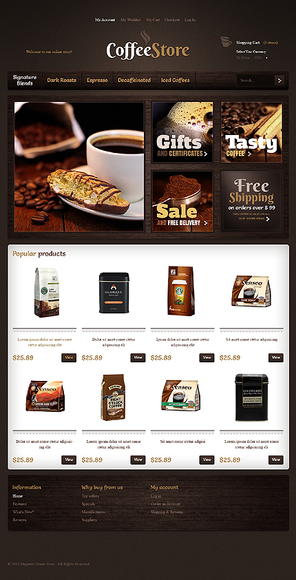 osCommerce Template 41324 Main Page Screenshot