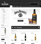 Food & Drink osCommerce  Template 41328