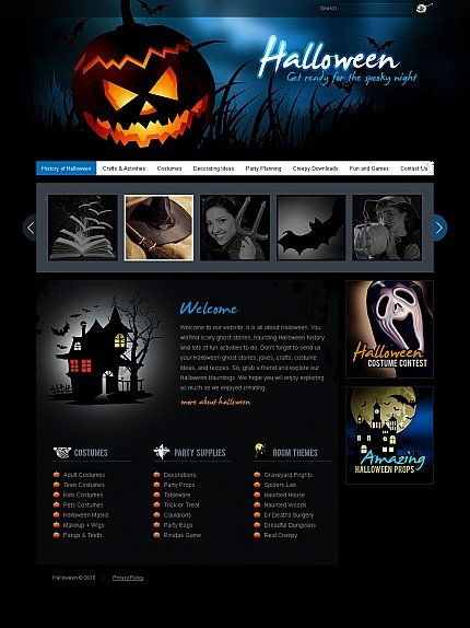 ADOBE Photoshop Template 41331 Home Page Screenshot