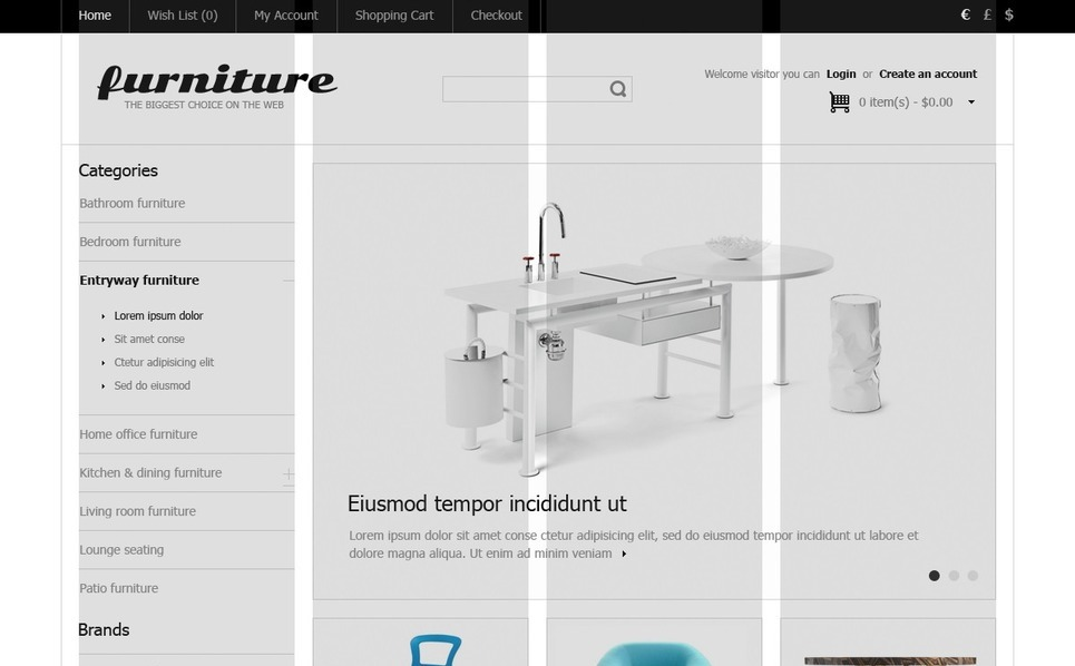 Plantilla OpenCart #41336 para Sitio de Muebles New Screenshots BIG