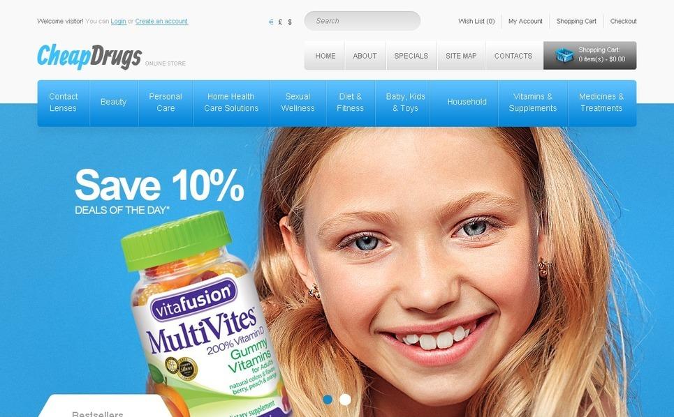 Plantilla OpenCart #41344 para Sitio de Farmacia New Screenshots BIG
