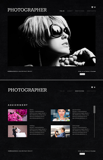 ADOBE Photoshop Template 41348 Home Page Screenshot