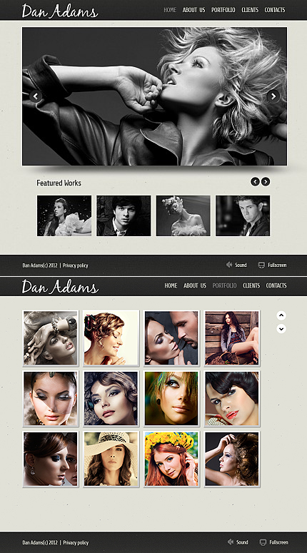 ADOBE Photoshop Template 41353 Home Page Screenshot