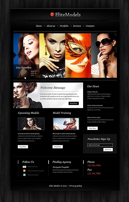 ADOBE Photoshop Template 41371 Home Page Screenshot