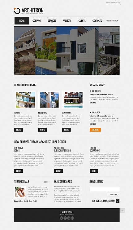 ADOBE Photoshop Template 41373 Home Page Screenshot