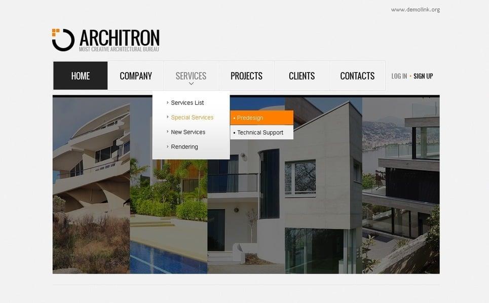 Flash CMS шаблоны №41373 на тему Архитектура New Screenshots BIG