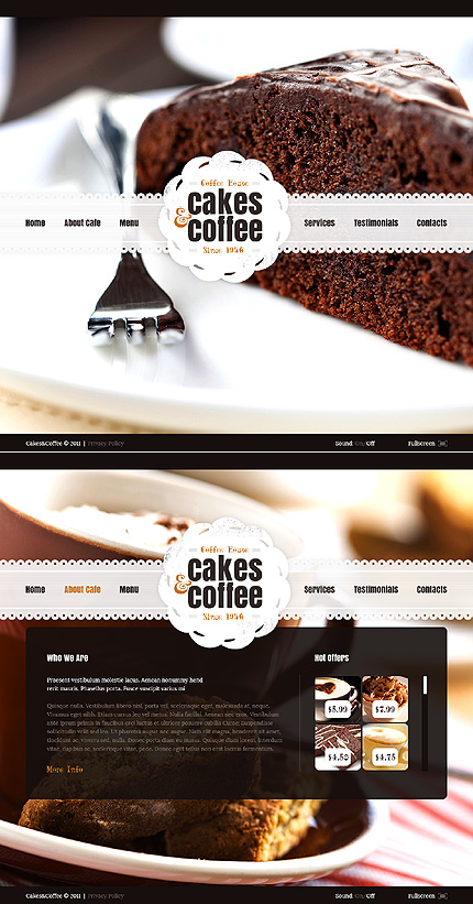 ADOBE Photoshop Template 41377 Home Page Screenshot