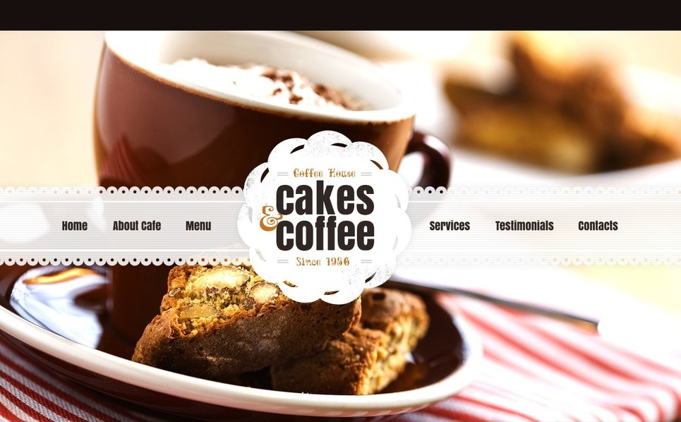 Premium Flash CMS Template over Café  New Screenshots BIG
