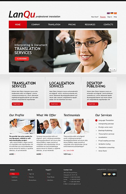 ADOBE Photoshop Template 41378 Home Page Screenshot