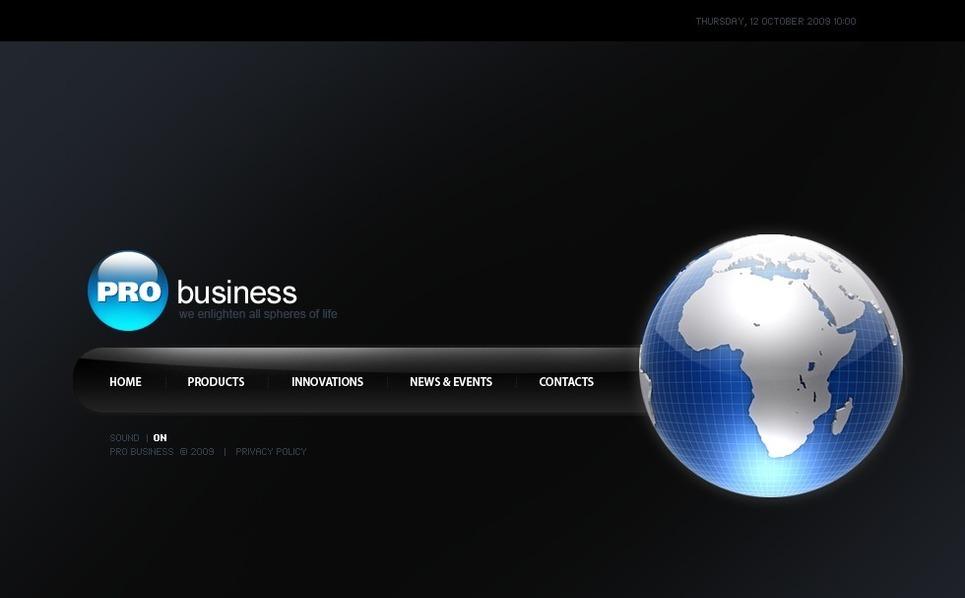 Plantilla Flash CMS #41381 para Sitio de Negocio y Servicios New Screenshots BIG