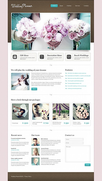ADOBE Photoshop Template 41382 Home Page Screenshot