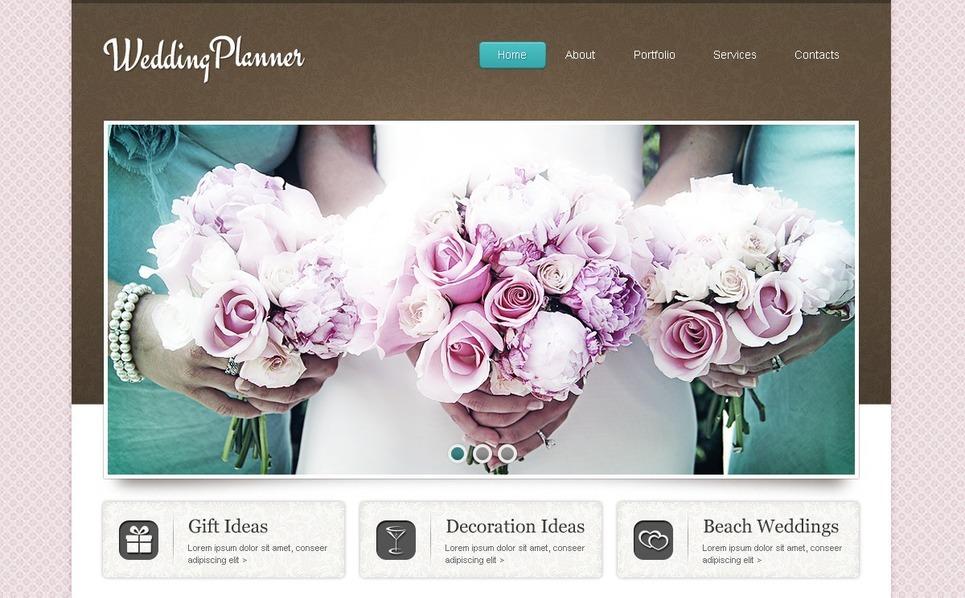 Tema Flash CMS  #41382 per Un Sito di Wedding Planner New Screenshots BIG