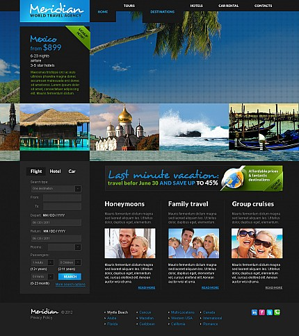 ADOBE Photoshop Template 41383 Home Page Screenshot