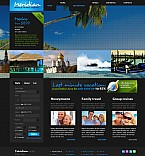 Travel Flash CMS  Template 41383