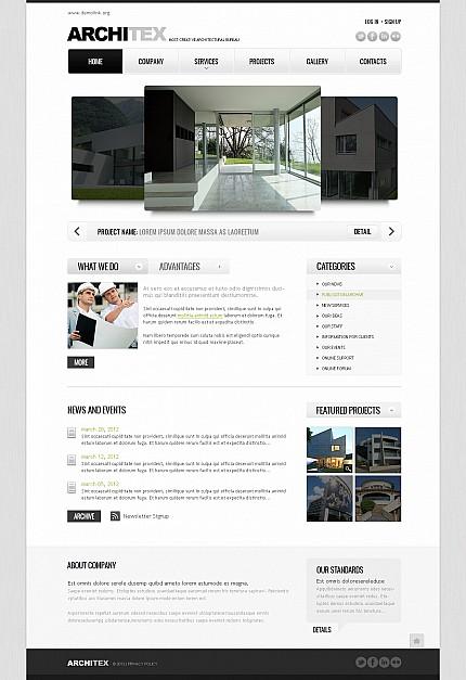 ADOBE Photoshop Template 41384 Home Page Screenshot