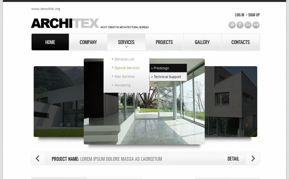 Plantilla Flash CMS #41384 para Sitio de Arquitectura New Screenshots BIG