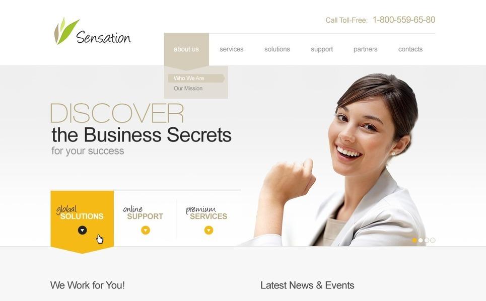 Luxusní Flash CMS šablona na téma Byznys a služby New Screenshots BIG